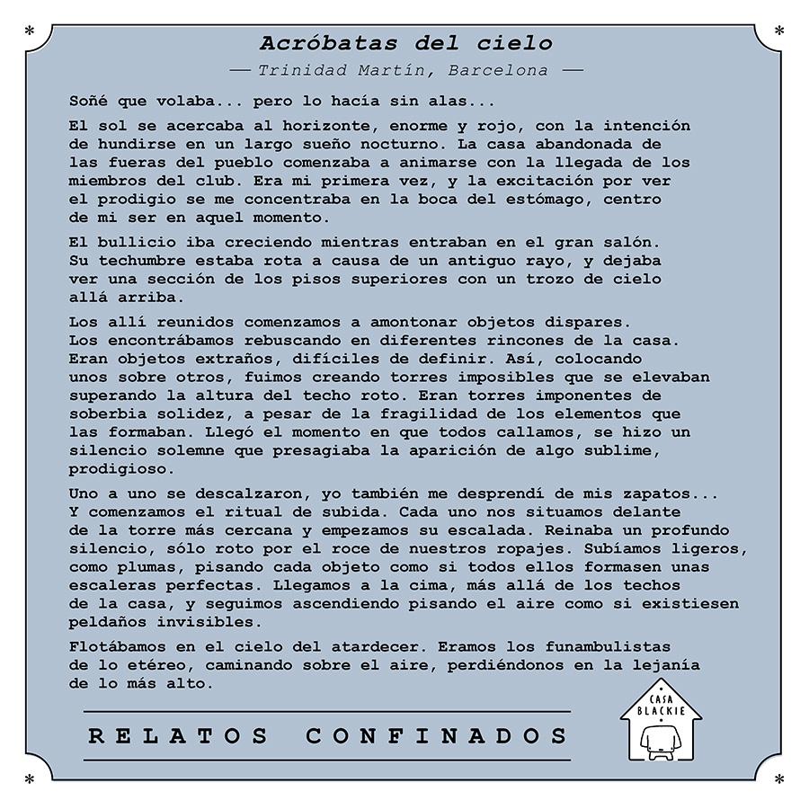 """Relato """"Acróbatas del cielo"""""""