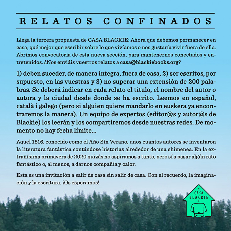 "Bases de la convocatoria ""Relatos Confinados"""